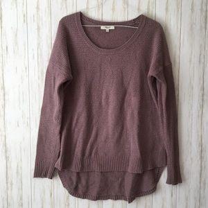 madewell Lavender Purple Chronicle Hi Low Sweater